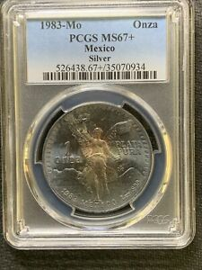 Mexico 1983-Mo Onza / PCGS MS67+ / Incredible Toning &*No Reserve!