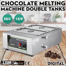 Electric Chocolate Melting Machine 8kg Heating Chocolate Melter 2 Tanks 1000w