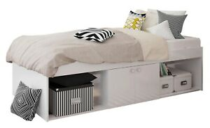 Kids Childs Teen Single 3ft Cabin Storage Bed White 90 x 190 cm - USED