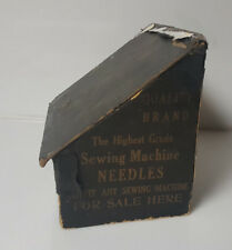 Vintage Mercantile Advertising Display case for Sewing Machine Needles