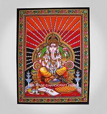 Señor Indio Hippie Ganesha Tapiz Mantel Estera De Yoga Pared Decoración Póster