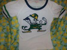 Notre Dame Women's Fighting Irish Shirt Bling  Sz S  College University 🏈 ⚾ 🏀