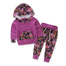 2PCS Toddler Baby Boys Girls Long Sleeve T-Shirt +Pants Set Kids Clothes Outfits