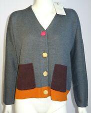 NUMPH cardigan donna maglione manica lunga grigio