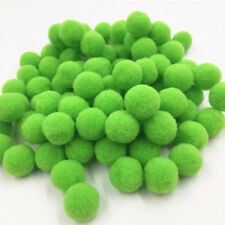 Hot 100pcs 15mm DIY Crafts  Green Mini Fluffy Pom Poms Ball Felt