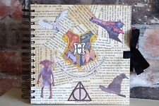Harry Potter inspired Hogwarts, Personalised  guestbook, photo album, scrapbook
