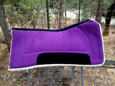 Purple 32 x 32 Contoured Western Horse Saddle Pad Blanket w/ Thick Fleece