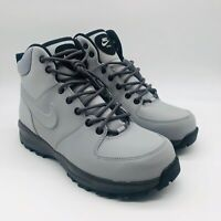 Nike Manoa Leather Wolf Gray Black Boot 454350-004, Men's 8.5 M