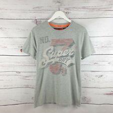 Superdry Mens Vintage No7 Grey Faded Short Sleeve Tshirt Size Medium M