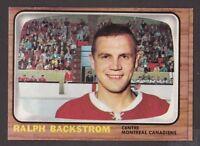 1966-67  TOPPS  # 75  RALPH BACKSTROM  NRMT-MT   INV M881