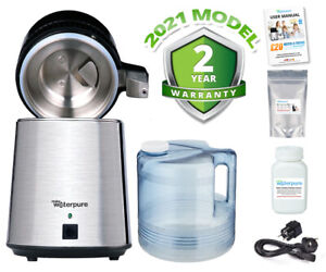 Water Distiller, Stainless Steel, Poly Jug, Latest 2021 Model - Make Water Pure