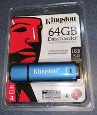 Kingston 64gb Dtvp30 256bit Aes Encrypted Usb 3.0 DataTraveler Vault Privacy 3.0