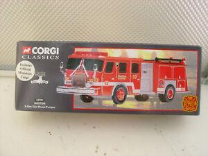 CORGI CLASSICS #54701 1:50 BOSTON E-ONE SIDE MOUNT PUMPER FIRE TRUCK NEW IN BOX