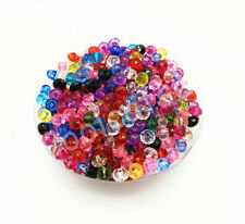 200Pcs  6 mm Mixed Color  Rondelle Bicone Acrylic Spacer Loose Beads Free Ship