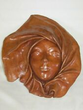 Leather Art, Face Wall Plaque, Mystical Look