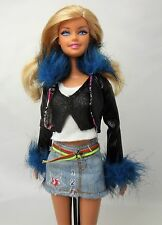 Barbie Doll Blonde hair Blue eyes Straight legs Redressed