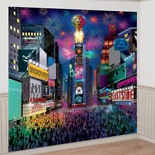 Happy New Year Times Square New York Selfie Photo Backdrop Party Decorating Kit