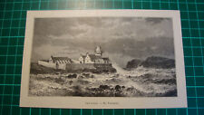 Valentia Island Ireland view antique print 1892 holzstich