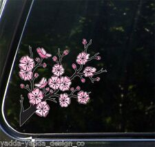 "CLR:CAR - Cherry Blossom Branch - Stained Glass Vinyl Car Decal ©YYDC(5.5""x5.5"")"