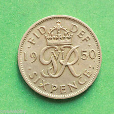 1950 George VI Sixpence SNo40116