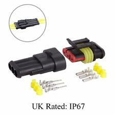 Waterproof 3 Way Pin Electrical Wire Joint Superseal Connector / UK Rated: IP67