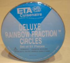 ETA CUISENAIRE DELUXE RAINBOW FRACTION CIRCLES 9083 AND 5 FRACTION RINGS NEW