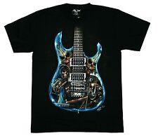 T-Shirt Gitarre+Totenkopf, Gr.XXL, 2XL, Heavy  Metal, Guitar+Skull, Rocker