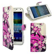 Funda para samsung Galaxy S5 Mini Rosa Crema Estampado Floral PU Cuero Cartera
