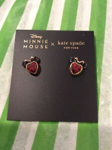 NEW Kate Spade Disney Minnie Mouse gold Statement Stud Earrings Sold Out