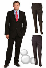 Mens Suit Pants Size 77- 117 Wool Blend Black Navy Grey Business Formal