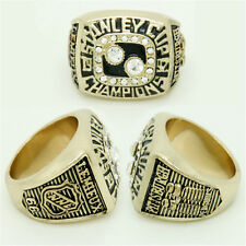 NHL STANLEY CUP REPLICA CHAMPIONSHIP RING 1992 PENGUINS LEMIEUX WITH RING BOX