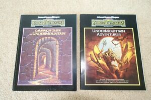 1991 TSR AD&D FORGOTTEN REALMS RUINS OF UNDERMOUNTAIN BOX SET 1060 - BOOKS ONLY