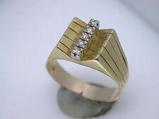 Reinheit SI Echte Diamanten-Ringe im Band-Stil aus Gelbgold mit Brilliantschliff