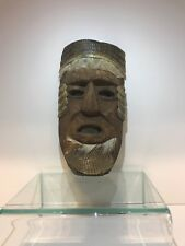 Vintage Antique Armadillo Carved Wooden Mexican Mayan Tribal Mask Folk Art