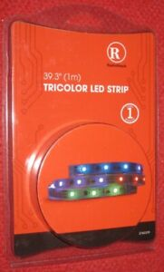 "RadioShack 39.3"" (1m) Tricolor LED Strip - 2760339 (IL/RT6-14591-2760339-NIB)"