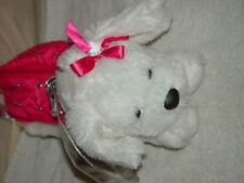 Little Girls White And Pink Dog Hand Bag