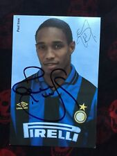 Autografo originale PAUL INCE-Inter Milano 96/97-Inghilterra/Liverpool/ManUnited