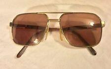 Vintage Safilo Aviator Sunglasses Eyeglasses Gold Tone Men Women Unisex
