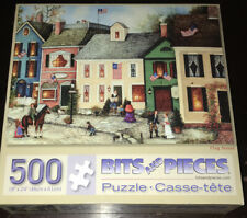 Bits And Pieces 500 piece Jigsaw Puzzle FLAG STREET FREE SHIPPING Horse House