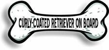 "Dog on Board Curly-Coated Retriever Bone Car Magnet Bumper Sticker 3""x7"""