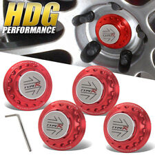 4 Pieces JDM Type-R Red Badge Universal Center Wheel Hub Cap Lock Motorsport