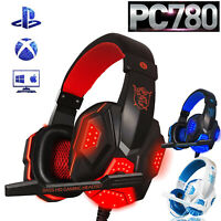 For PS4 Xbox PC Xboxone Gaming Headset Mic Stereo Surround 3.5mm Wired Headphone