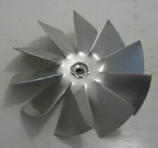 "AIR DRIVE A000539 Fan Blade 4"" x 1/4"" 10 Wing Aluminum Fan Blade CW - 1/4"" Bore"