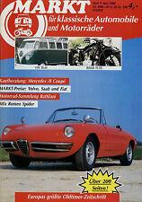 Markt 5/88 1988 Alfa Romeo Duetto BMW R 35 VW Bulli Mercedes /8 Coupé 250 280 CE