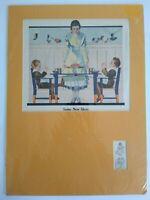1919 Coles Phillips Art Jello Some New Ideas Vintage Print Ad w Yellow Matting