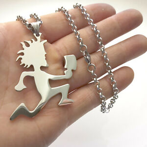 ICP Jewelry 2'' Classic Hatchetman Charms Juggalo Stainless steel Necklace 24''