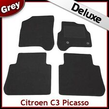 Citroen C3 Picasso (2009 2010 2011) Tailored LUXURY 1300g Car Mats GREY