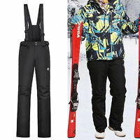 Men's Insulated Waterproof Winter Cargo Snow Ski Snowboard Pants with Suspenders