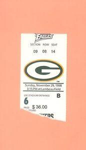 Brett Favre START #105 Green Bay Packers vs Philadelphia Eagles 1998 ticket stub