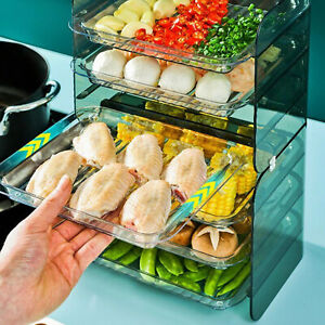 FOOD PREPARATION PLATE 3-TIER PORTABLE NON-PERFORATED VEGETABLE PREPARATION TRAY